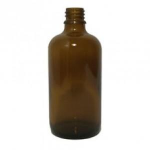Sklenená fľaška 100ml - hnedá