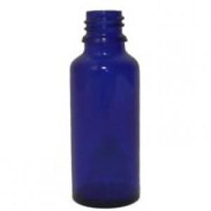 Sklenená fľaška 30ml - modrá