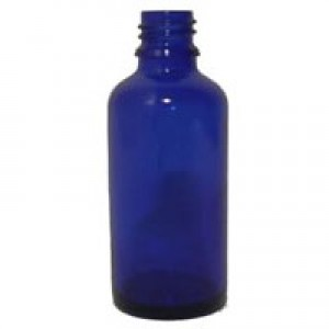 Sklenená fľaška 50ml - modrá