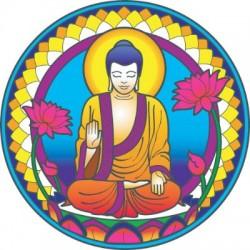 Mandala okenná nalepovacia - Buddha nature