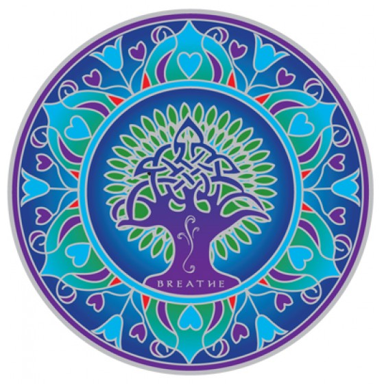 Mandala okenná nalepovacia - Zem