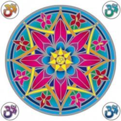 Mandala okenná nalepovacia - Kvet OHM