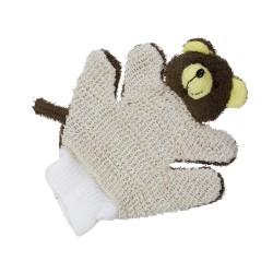 Mycia rukavica so zvieratkom - Macko tmavohnedý