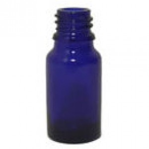 Sklenená fľaška 10ml - modrá
