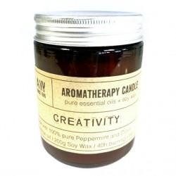 Sójová sviečka aromaterapeutická - Kreativita