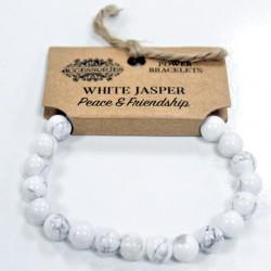 Energetický náramok - Jaspis biely - Mier a Priateľstvo