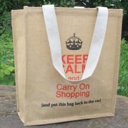 Jutová ekologická taška - Keep Calm