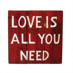 Motivačný nápis na stenu - Láska - 28x29cm