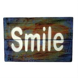 Motivačný nápis na stenu - Usmej sa - 19x29cm