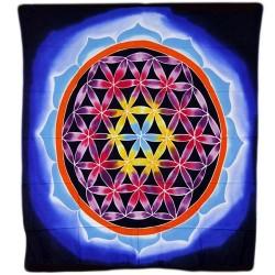Nástenný dekor/záves/prehoz - Kvet lásky a života 107x103cm
