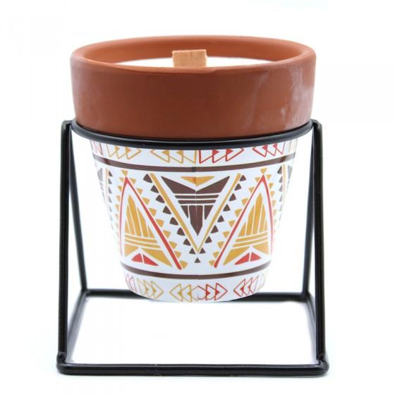 Sójová vonná sviečka s dreveným knôtom - Šalvia