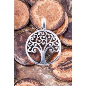 Prívesok mosadzný - Strom života postriebrený