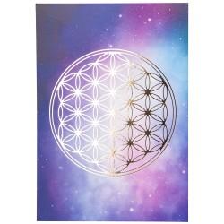 Mandala obrázok - Kvet života zlatá tlač