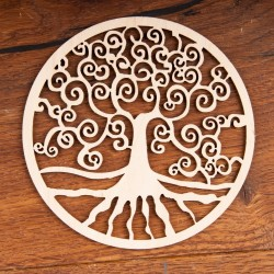 Strom života na zavesenie - drevo
