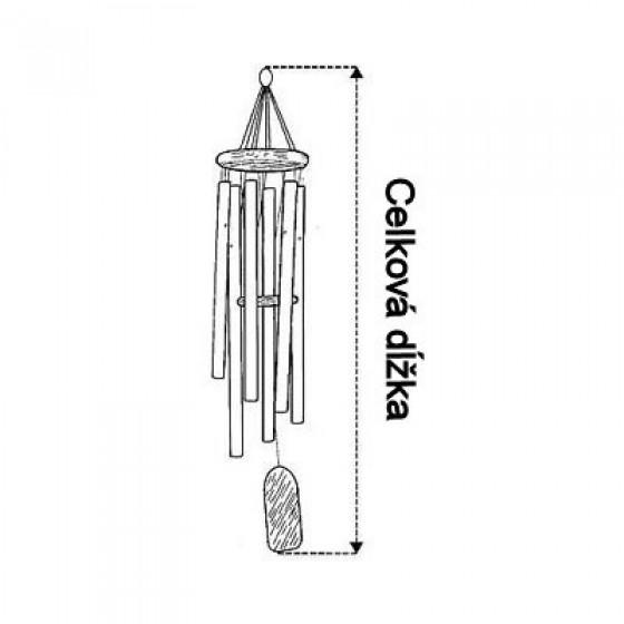 Zvonkohra - bambus klasik hnedá rôzne veľkosti