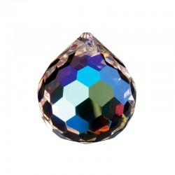 FS - Krištáľová dúhová guľa 3cm s farebným poťahom