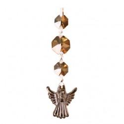 FS - Krištáľový anjelik s oktagónmy - amber