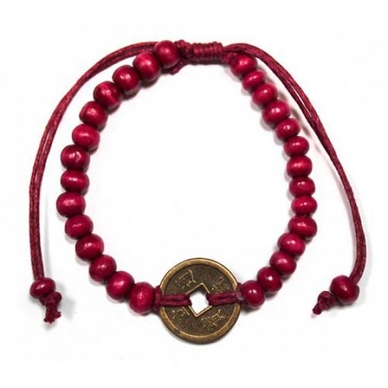 Feng Shui náramok pre šťastie - červený