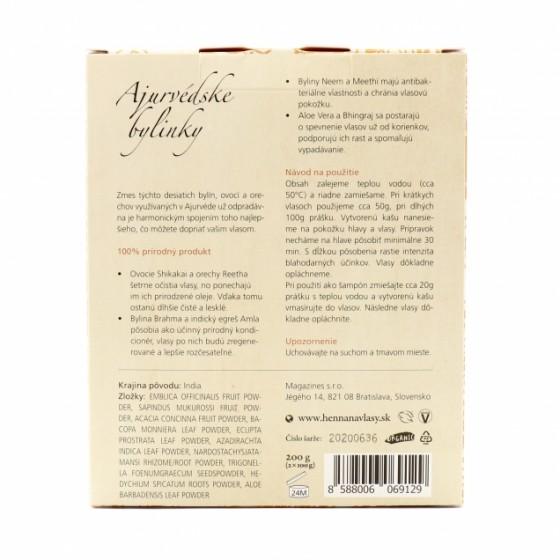 Prírodný šampón Ajurvédske bylinky 200g