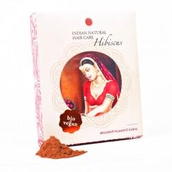 Prírodná farba Hibiscus na vlasy - prídavok do henny