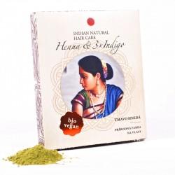 Prírodná farba na vlasy Henna & 3x Indigo tmavá hnedá