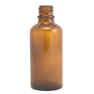 Sklenená fľaška 50ml - hnedá