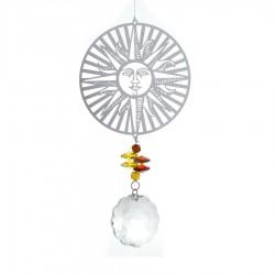 Závesná dekorácia s krištáľmi - slnko