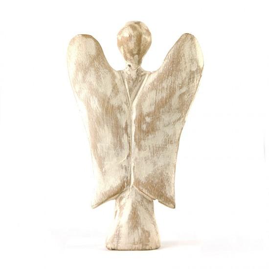 Anjel biely drevený 15cm