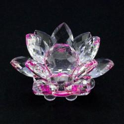 FS - Lotosový krištáľový kvet 6cm - ružový