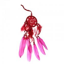 Lapač snov - mini pletený - červený