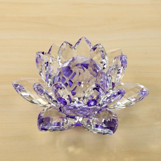 FS - Lotosový krištáľový kvet 12cm - fialový