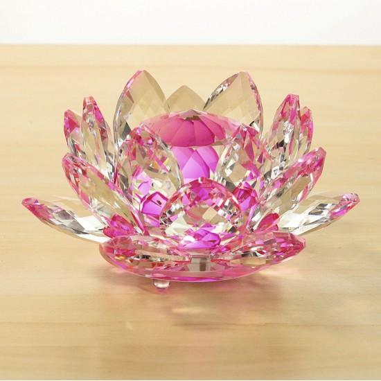 FS - Lotosový krištáľový kvet 13cm - ružový