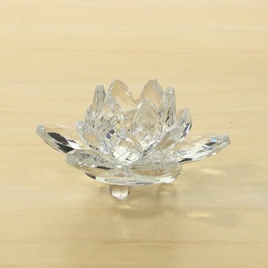 FS - Lotosový krištáľový kvet 6cm - clear