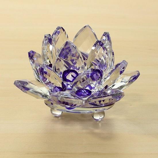 FS - Lotosový krištáľový kvet 8cm - fialový