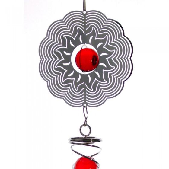 Spiner - slnko so špirálou malý červený