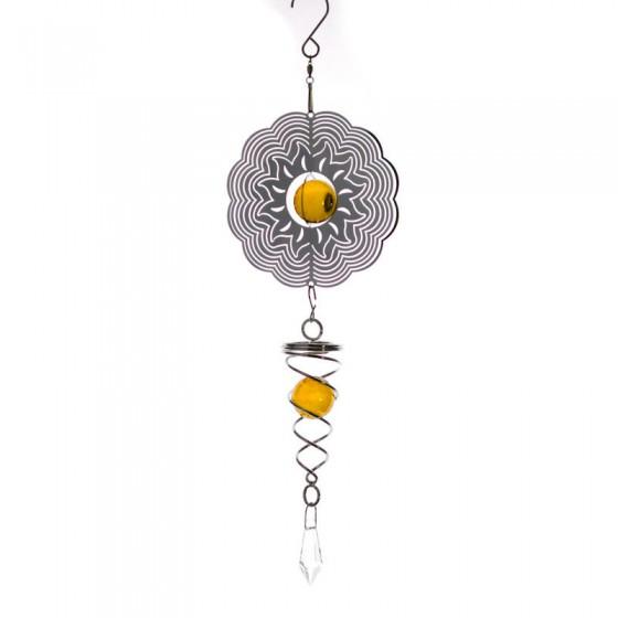 Spiner - slnko so špirálou malý oranžový