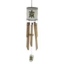 Zvonkohra - bambus - zdobená pieskom - korytnačky veľká