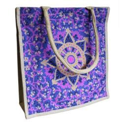 Eko nákupná jutová taška typ 1 - modrá
