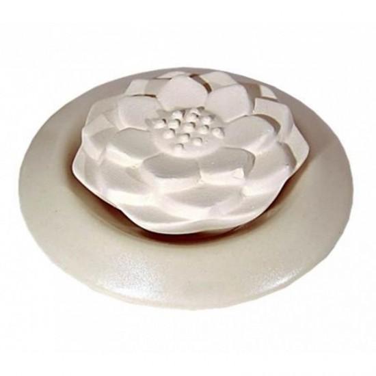 Aroma suchý kamenný difuzér - Lotos - biely