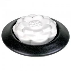 Aroma suchý kamenný difuzér - Lotos - čierny