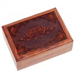 Box na vykladacie karty - drevený lotos