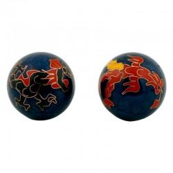 Čínske gule či kung 3,5cm - Drak a Fénix tmavé