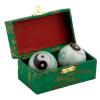 Čínske gule či kung 3,5cm - Ying Yang zeleno biele