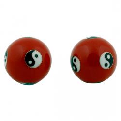 Čínske gule či kung 4cm - Ying Yang červené
