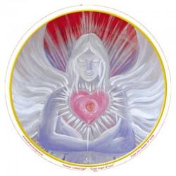 Mandala okenná nalepovacia 10,5cm - Anjel Veľkej Lásky