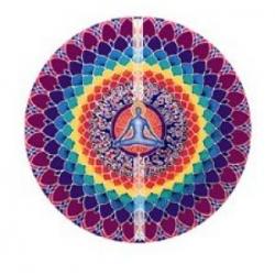 Mandala okenná nalepovacia 10,5cm - Lotosová meditácia