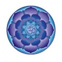Mandala okenná nalepovacia 10,5cm - Nekonečný Ohm