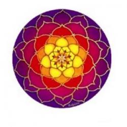 Mandala okenná nalepovacia 10,5cm - Slnečný lotos