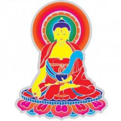 Mandala okenná nalepovacia - Buddha 2