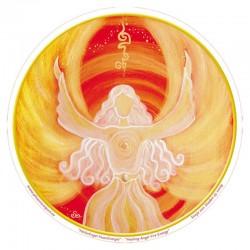 Mandala okenná nalepovacia 10,5cm - Anjel Energie Ohňa